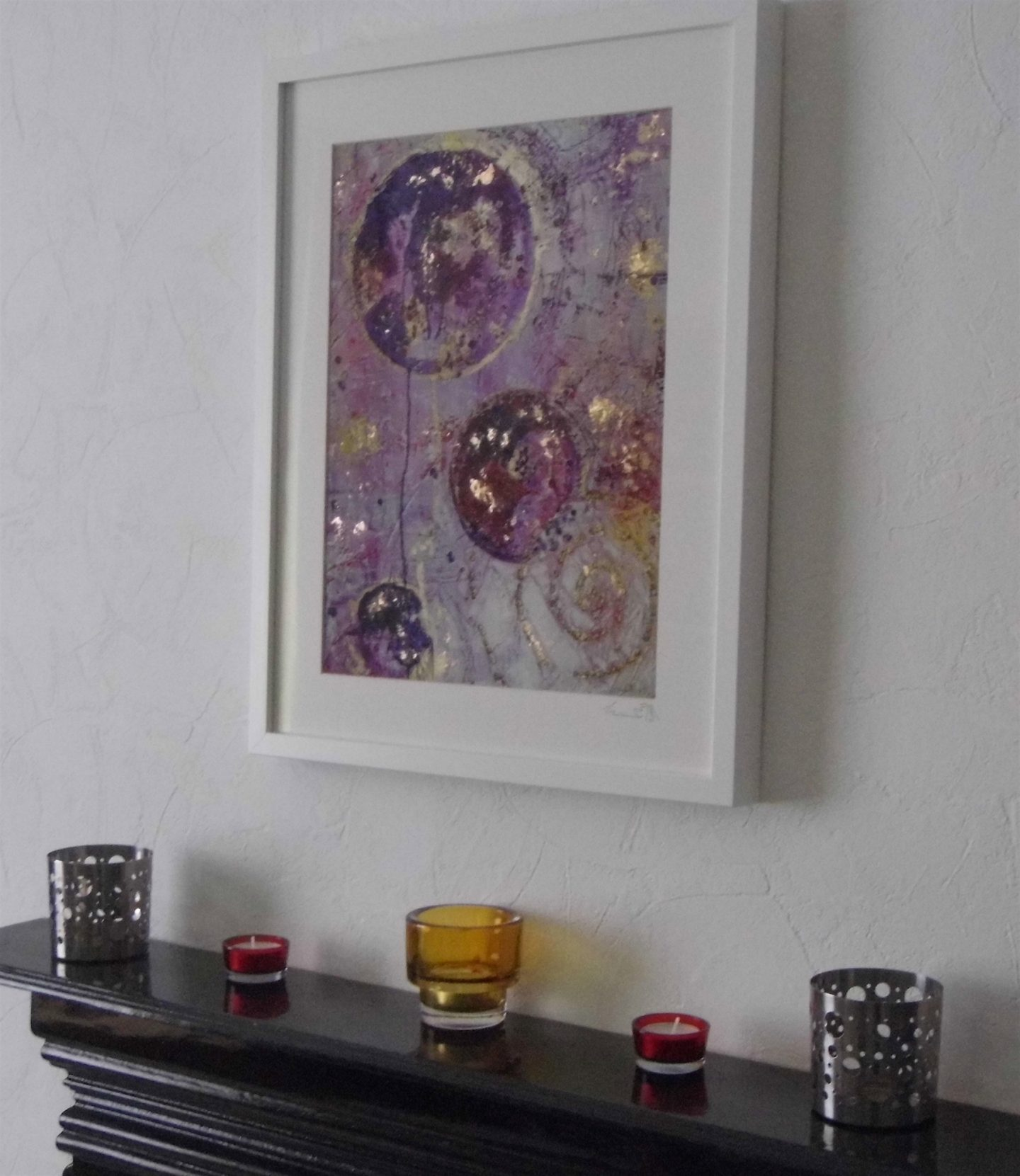 pink pearl gold abstract limited edition print emerald dunne art